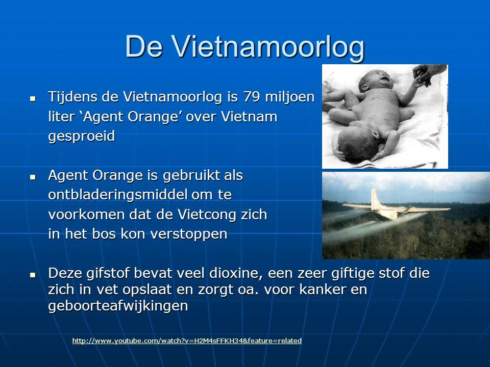 De Vietnamoorlog Tijdens de Vietnamoorlog is 79 miljoen