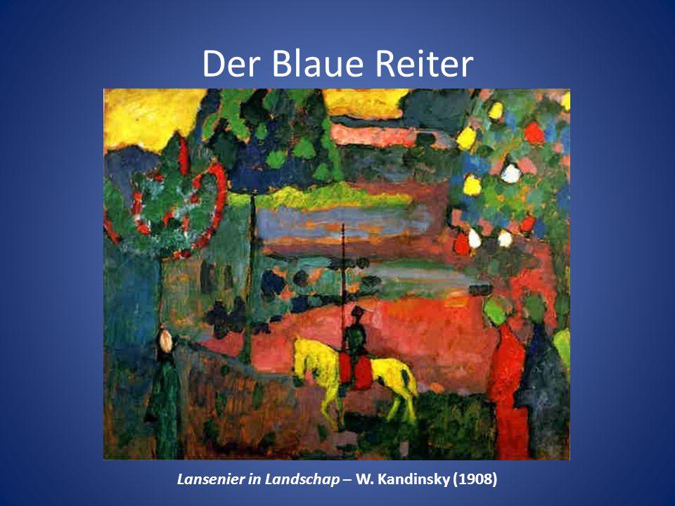Lansenier in Landschap – W. Kandinsky (1908)