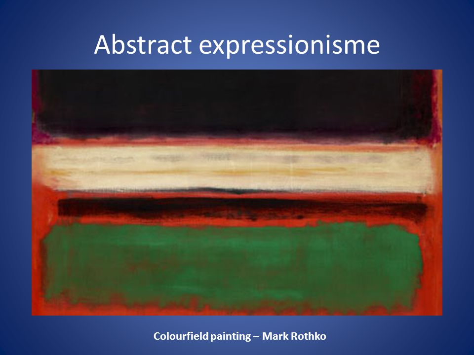 Abstract expressionisme
