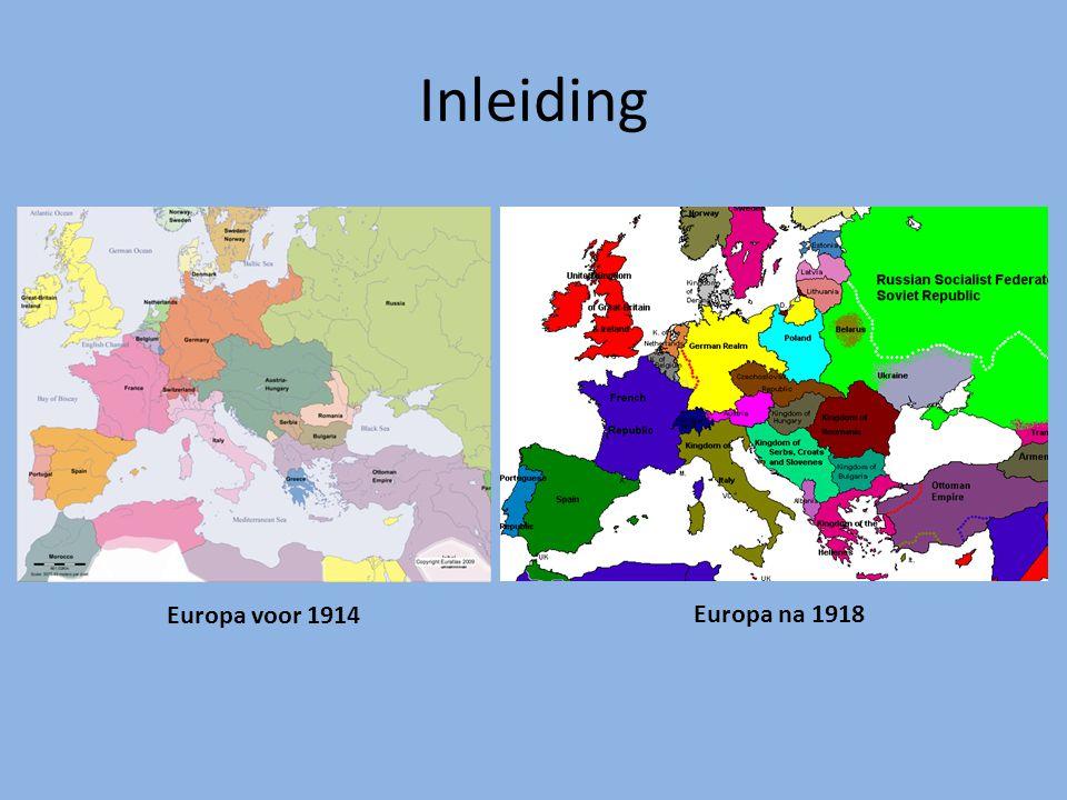 Inleiding Europa voor 1914 Europa na 1918
