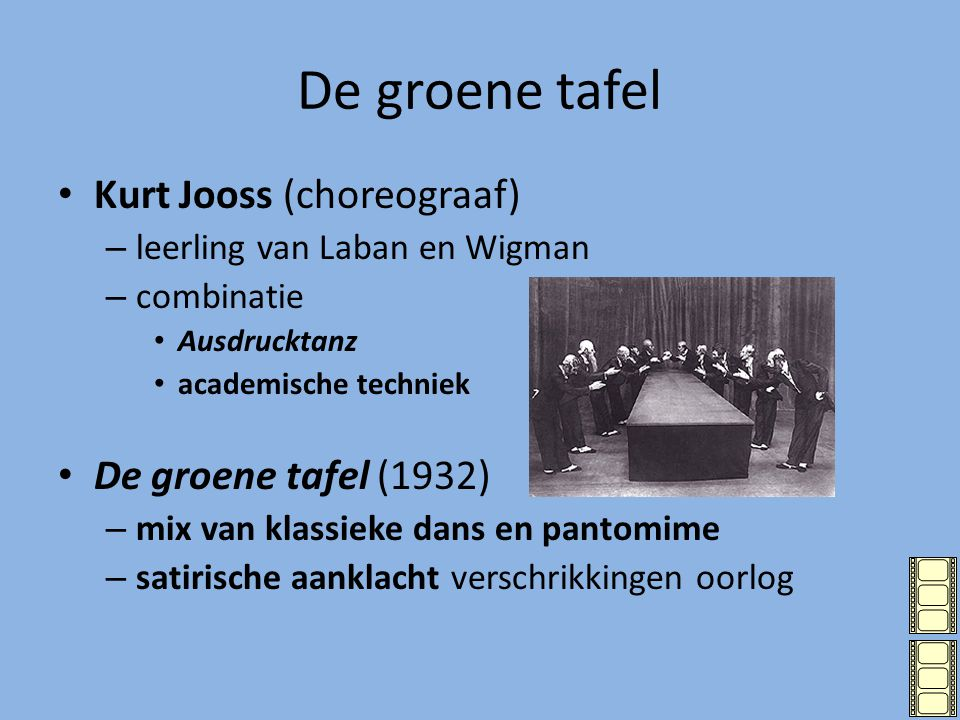 De groene tafel Kurt Jooss (choreograaf) De groene tafel (1932)