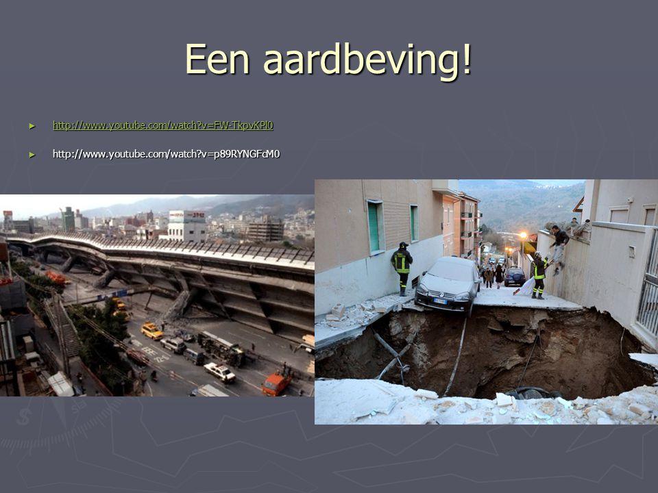 Een aardbeving! http://www.youtube.com/watch v=FW-TkpvKPl0