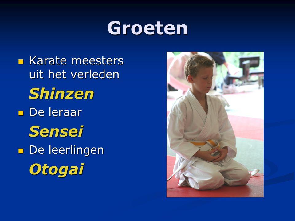 Groeten Karate meesters uit het verleden Shinzen De leraar Sensei