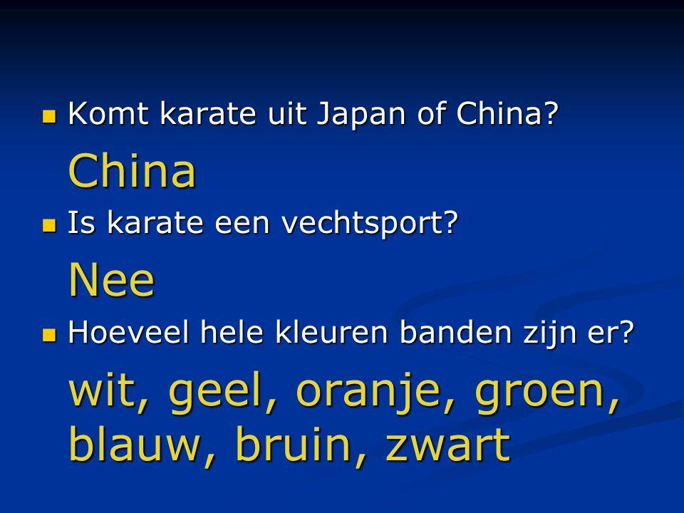 Komt karate uit Japan of China