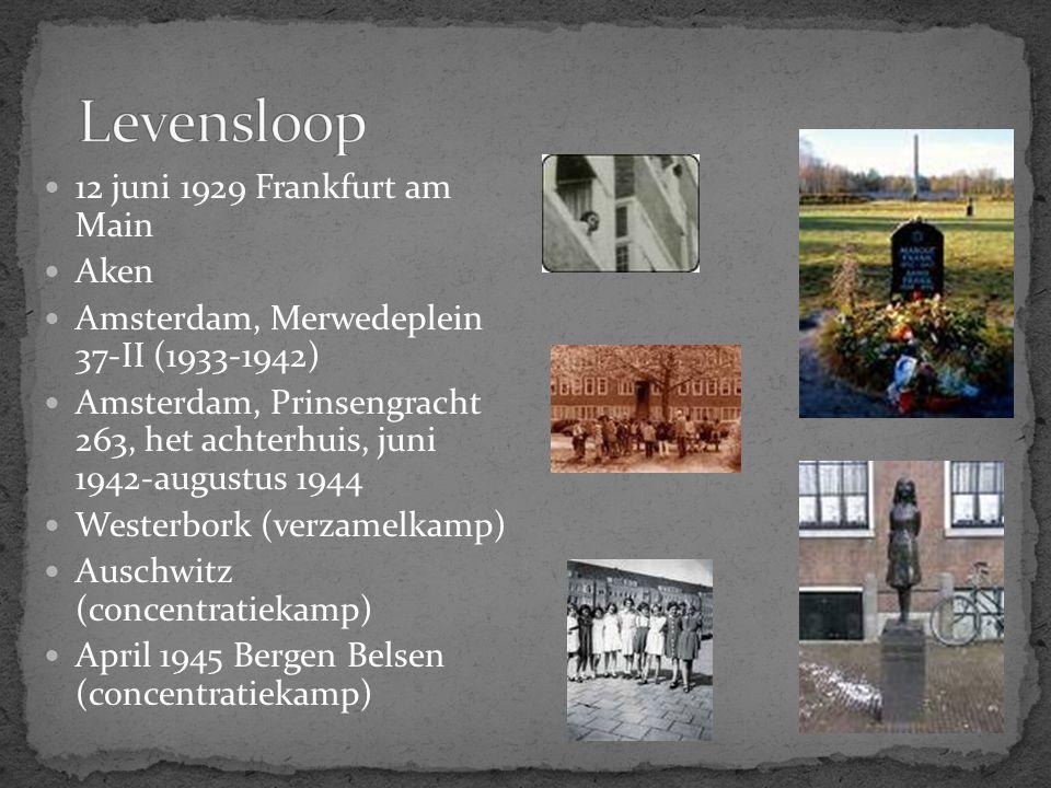 Levensloop 12 juni 1929 Frankfurt am Main Aken