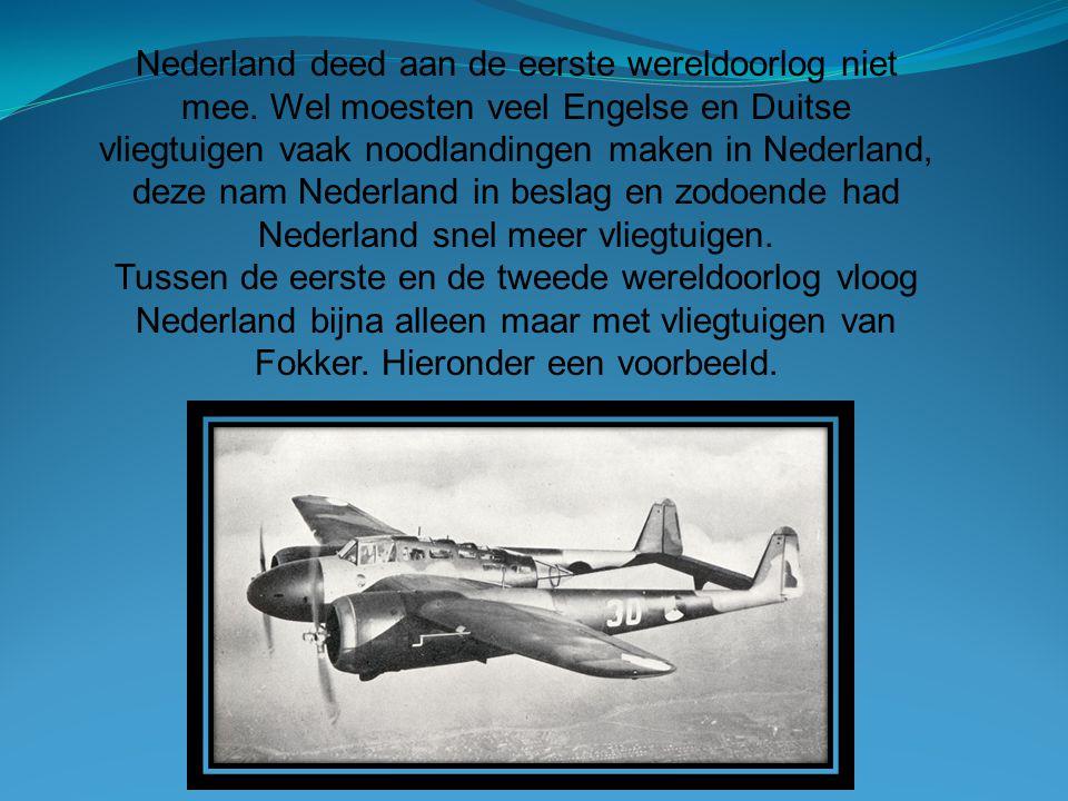 Nederland deed aan de eerste wereldoorlog niet mee