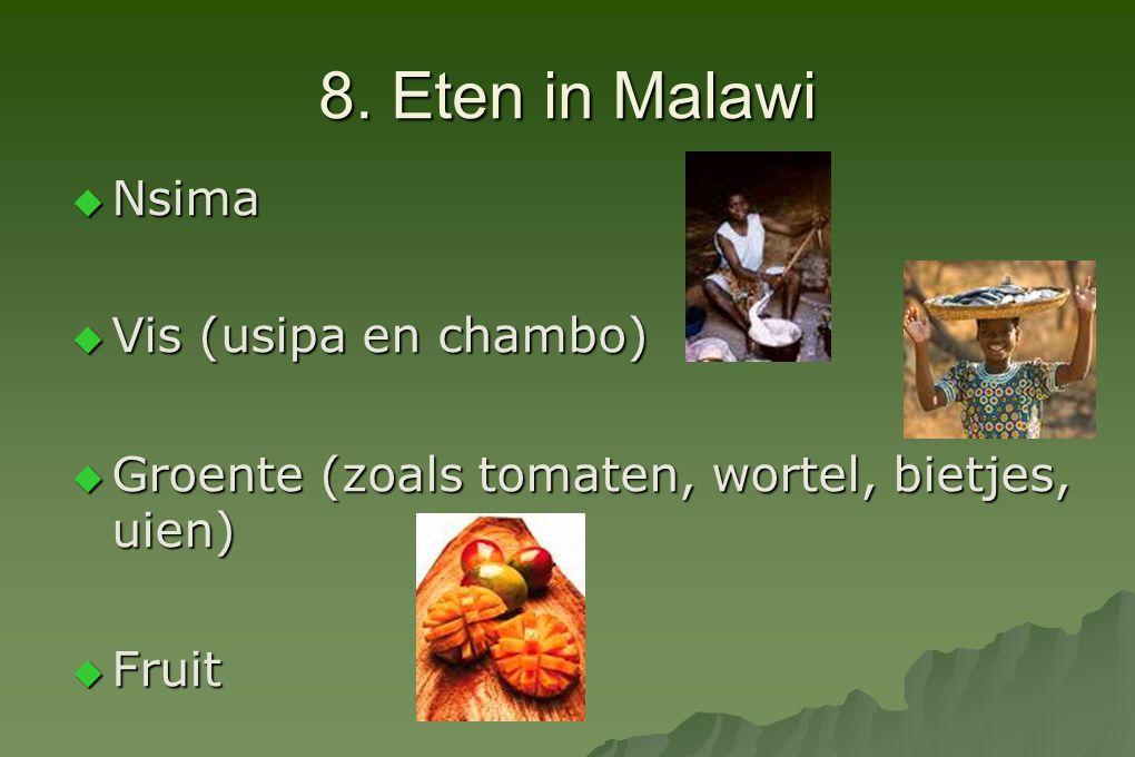 8. Eten in Malawi Nsima Vis (usipa en chambo)