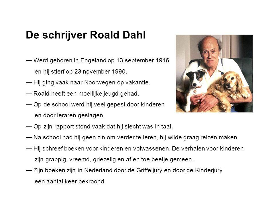 De schrijver Roald Dahl