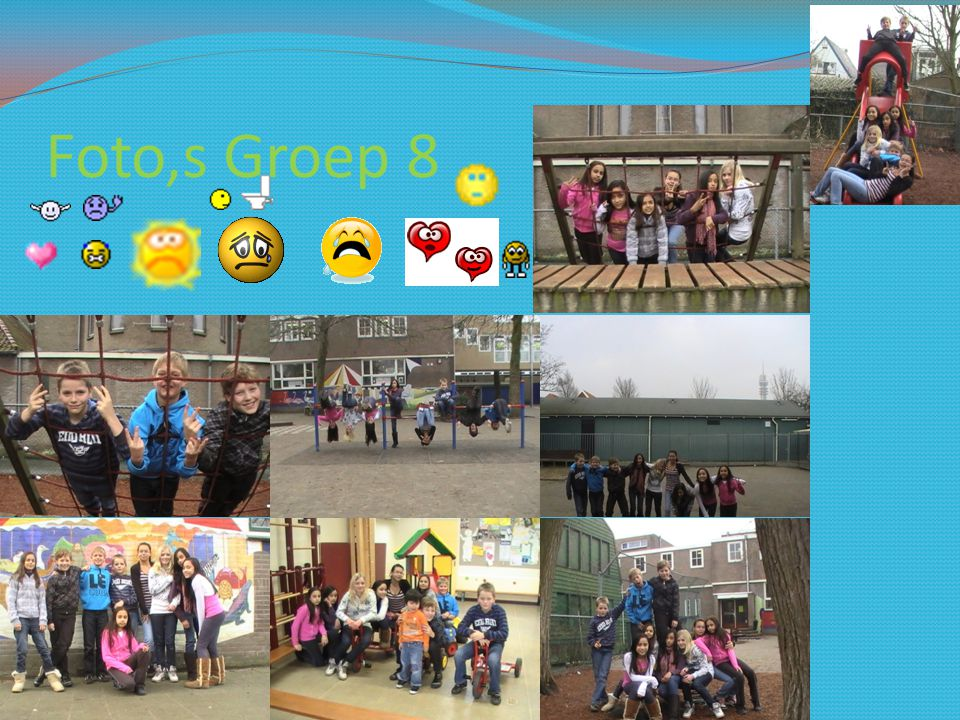 Foto,s Groep 8