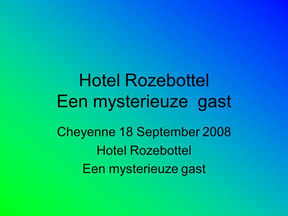 Hotel Rozebottel Een mysterieuze gast