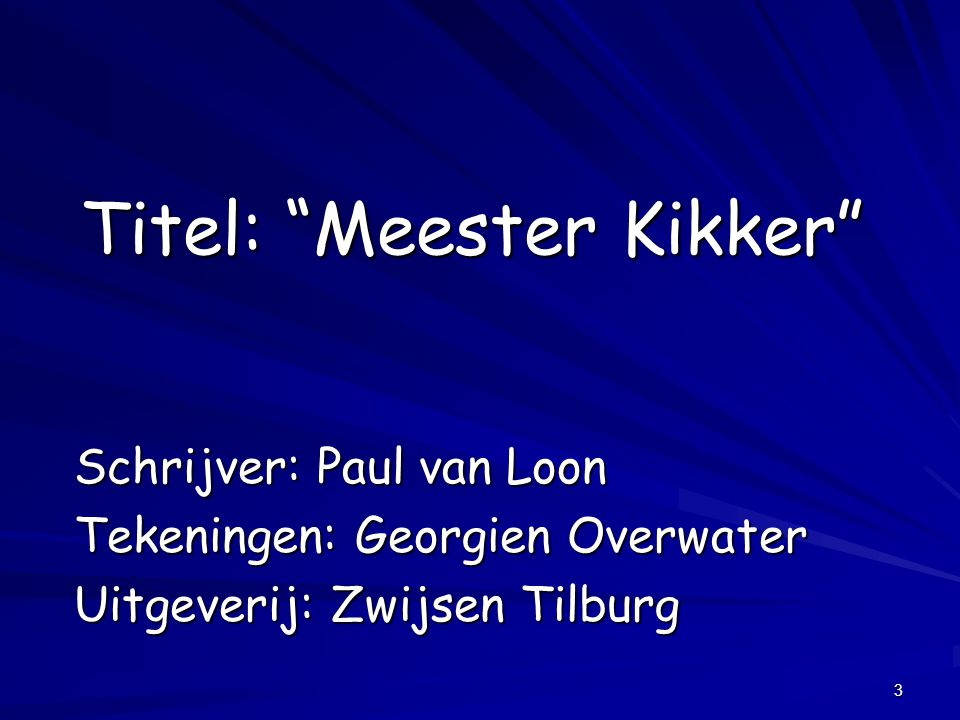 Titel: Meester Kikker