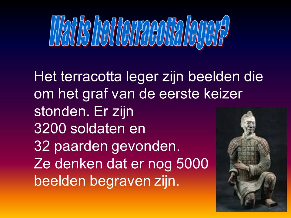 Wat is het terracotta leger