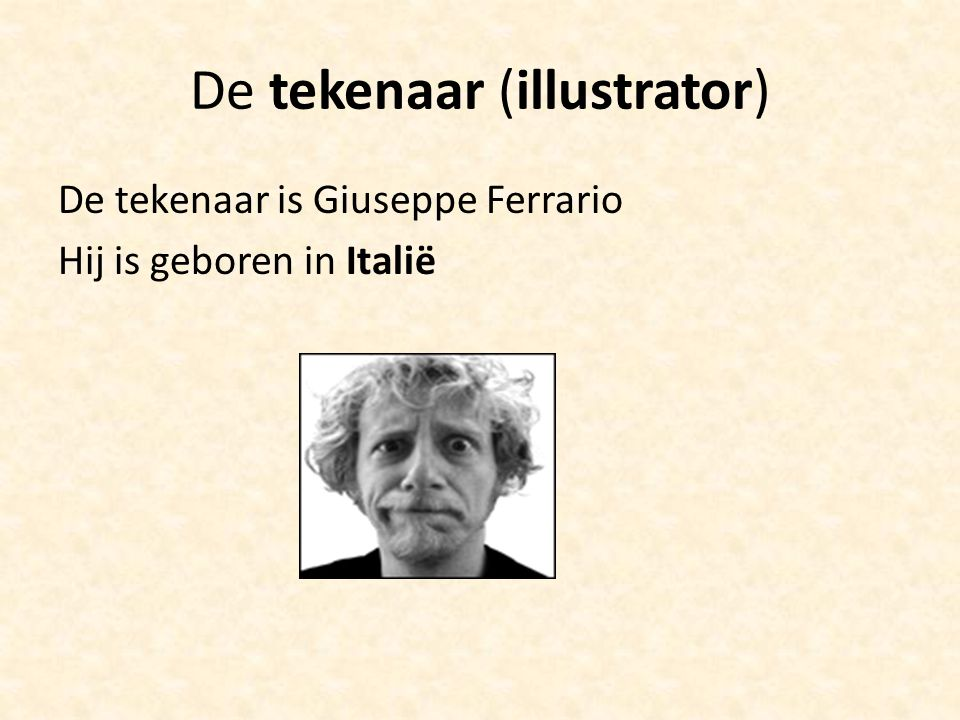 De tekenaar (illustrator)