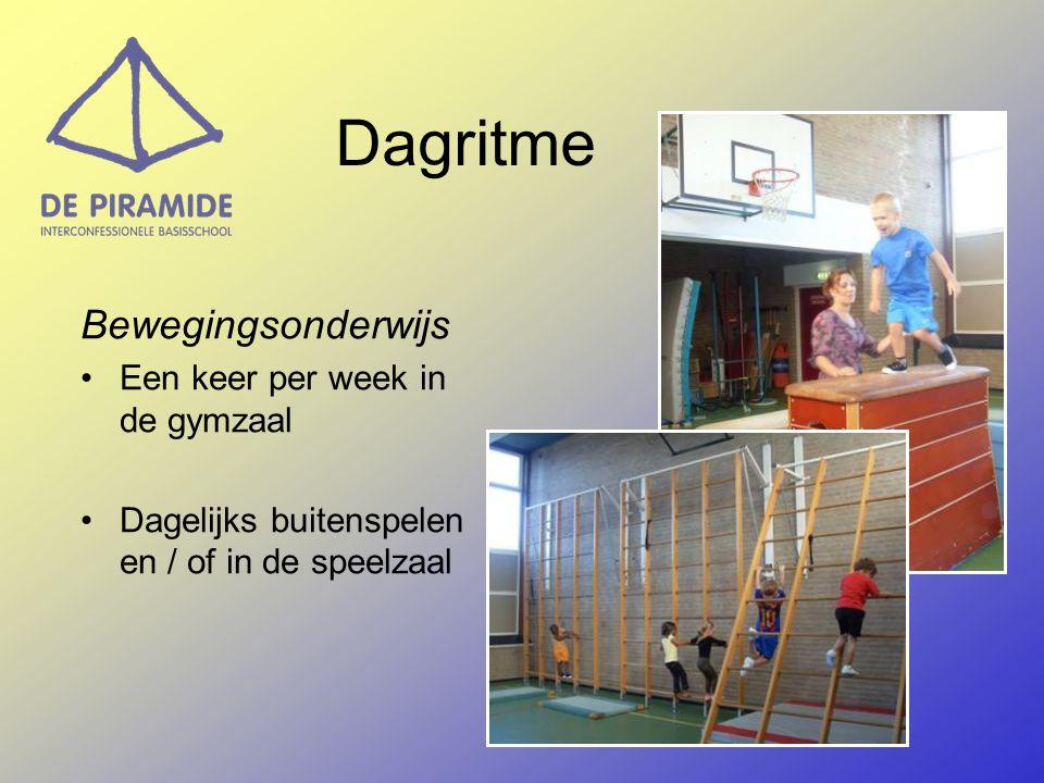 Dagritme Bewegingsonderwijs Een keer per week in de gymzaal