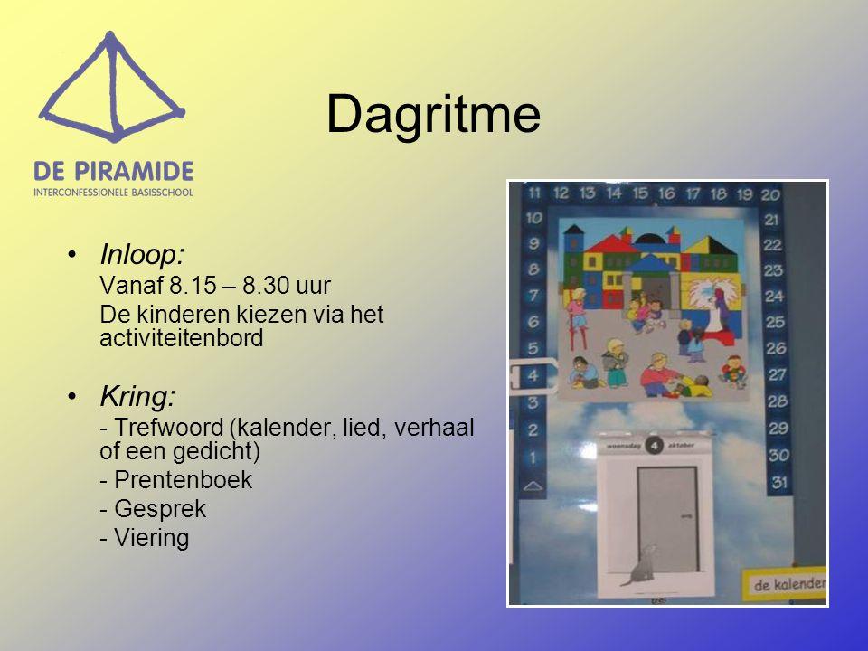 Dagritme Inloop: Kring: De kinderen kiezen via het activiteitenbord