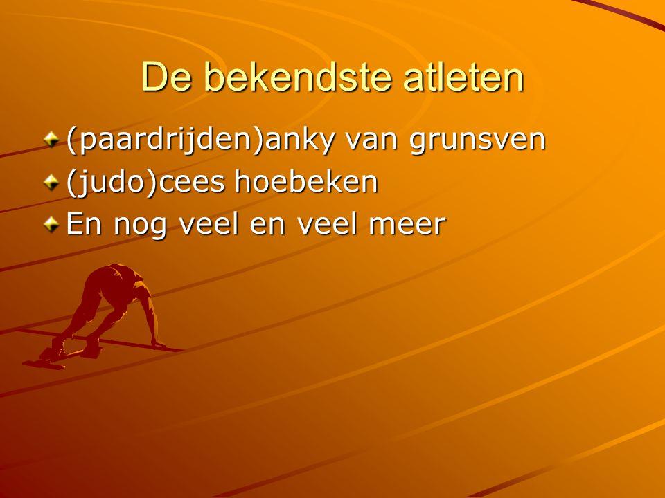 De bekendste atleten (paardrijden)anky van grunsven