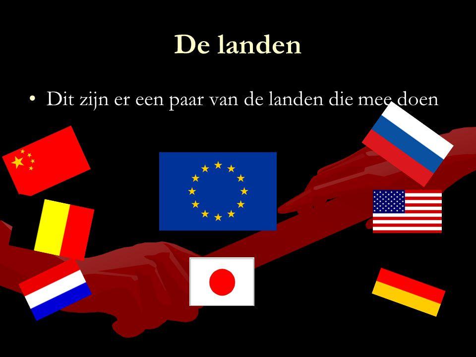 De landen Dit zijn er een paar van de landen die mee doen