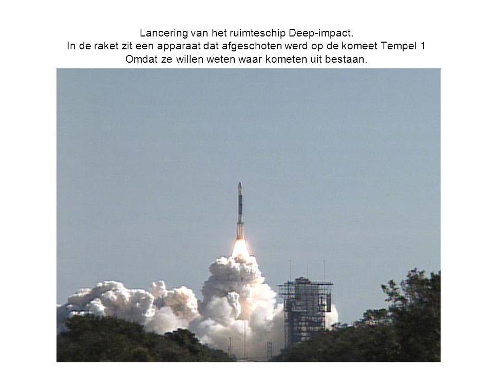 Lancering van het ruimteschip Deep-impact