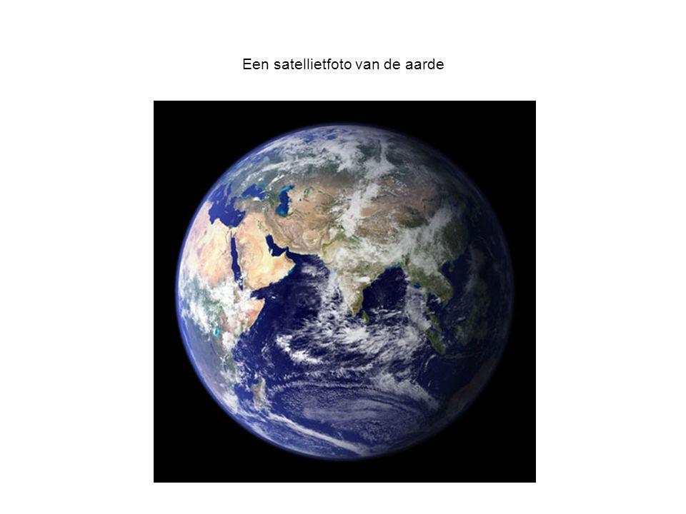 Een satellietfoto van de aarde