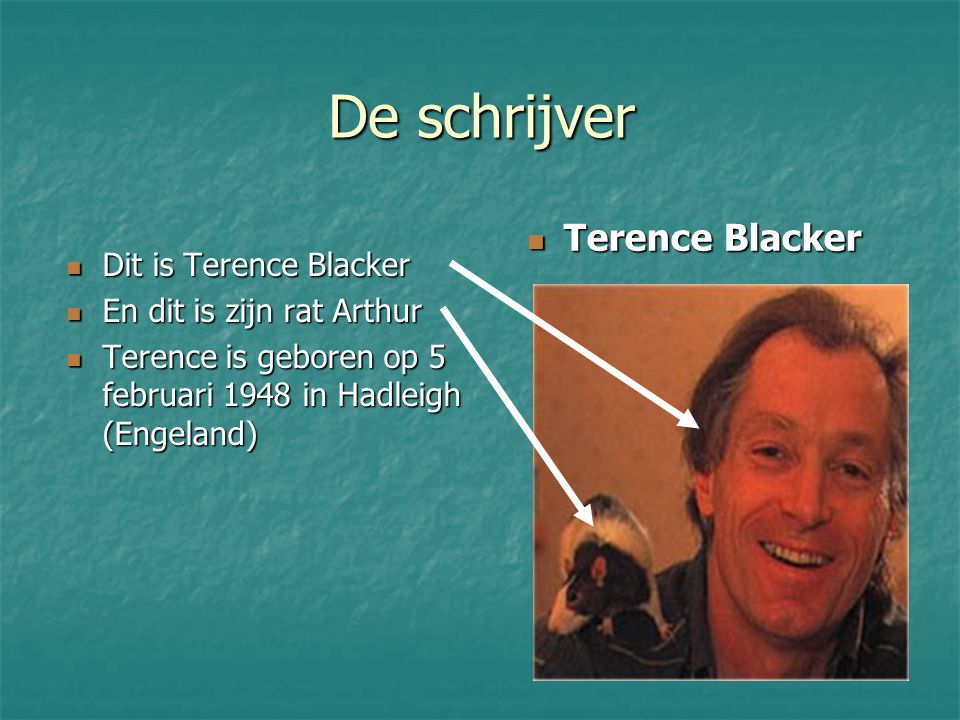 De schrijver Terence Blacker Dit is Terence Blacker