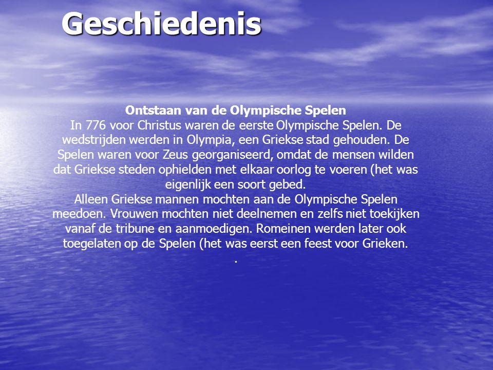 Ontstaan van de Olympische Spelen