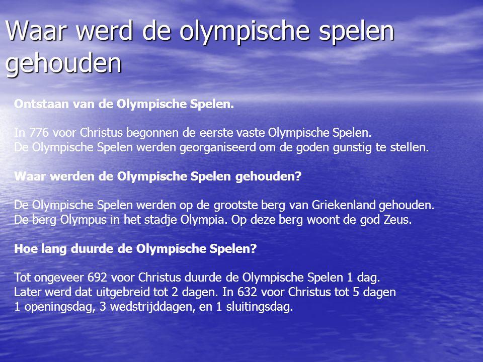 Waar werd de olympische spelen gehouden