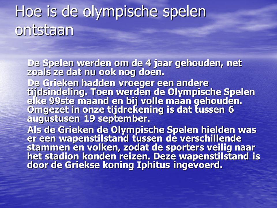 Hoe is de olympische spelen ontstaan