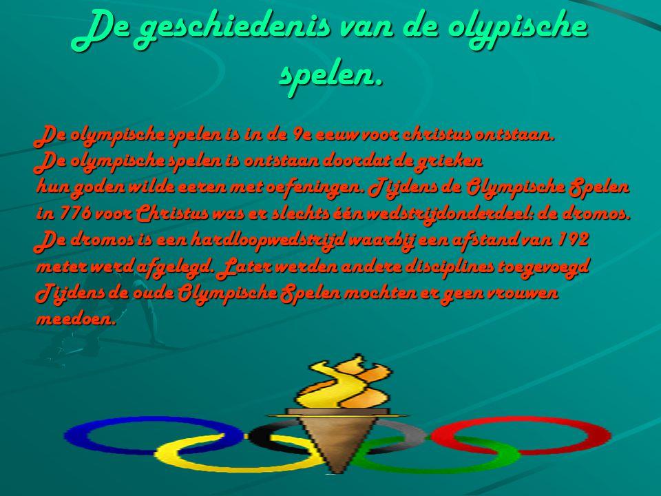 De geschiedenis van de olypische spelen.