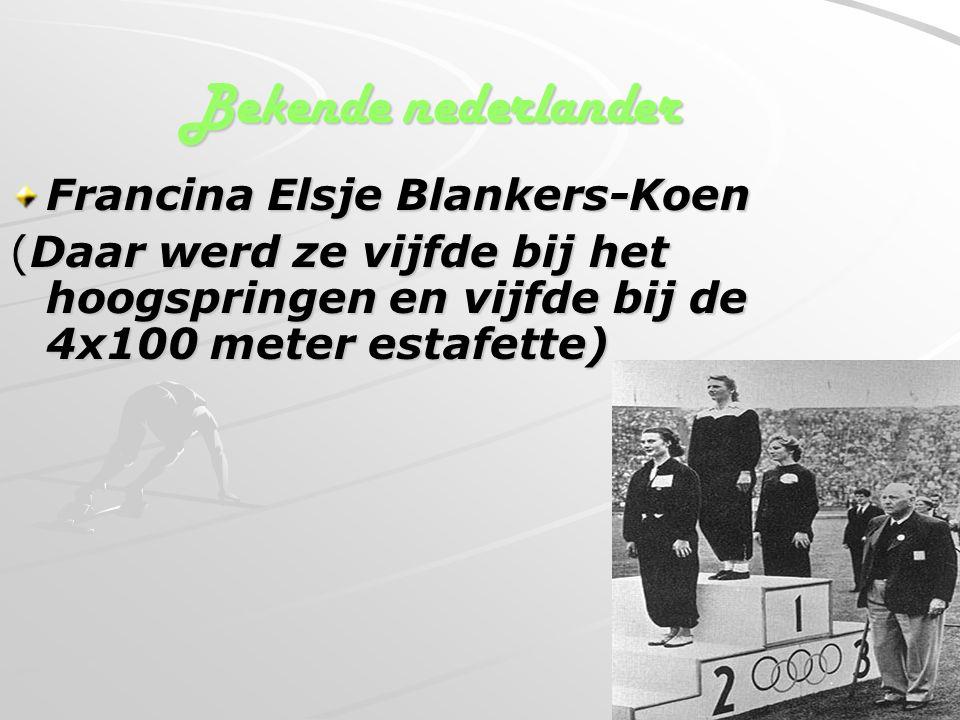 Bekende nederlander Francina Elsje Blankers-Koen