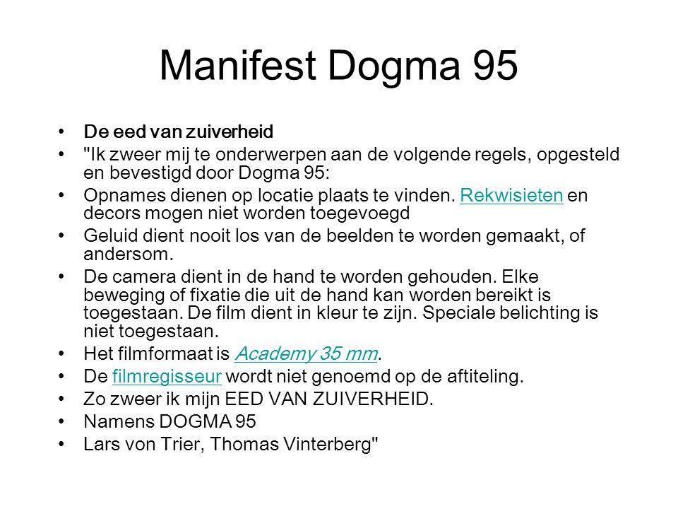 Manifest Dogma 95 De eed van zuiverheid