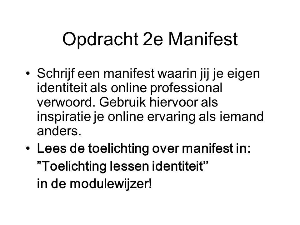 Opdracht 2e Manifest