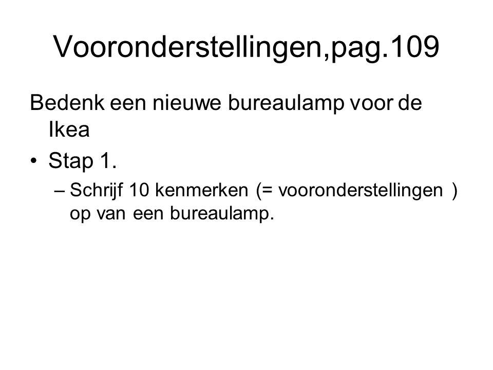 Vooronderstellingen,pag.109