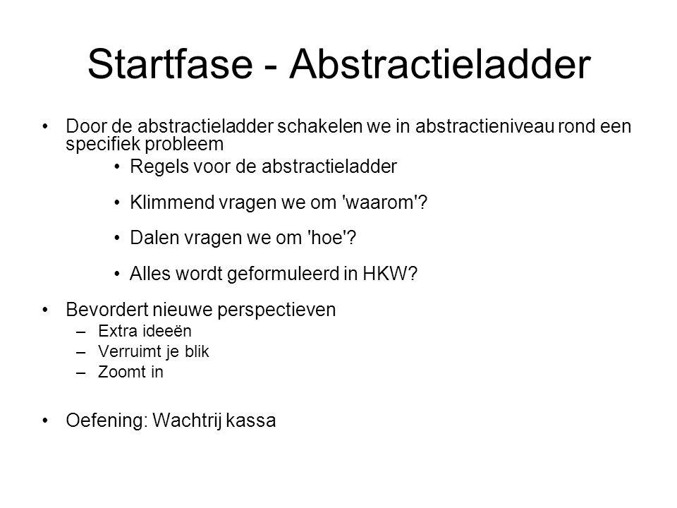 Startfase - Abstractieladder