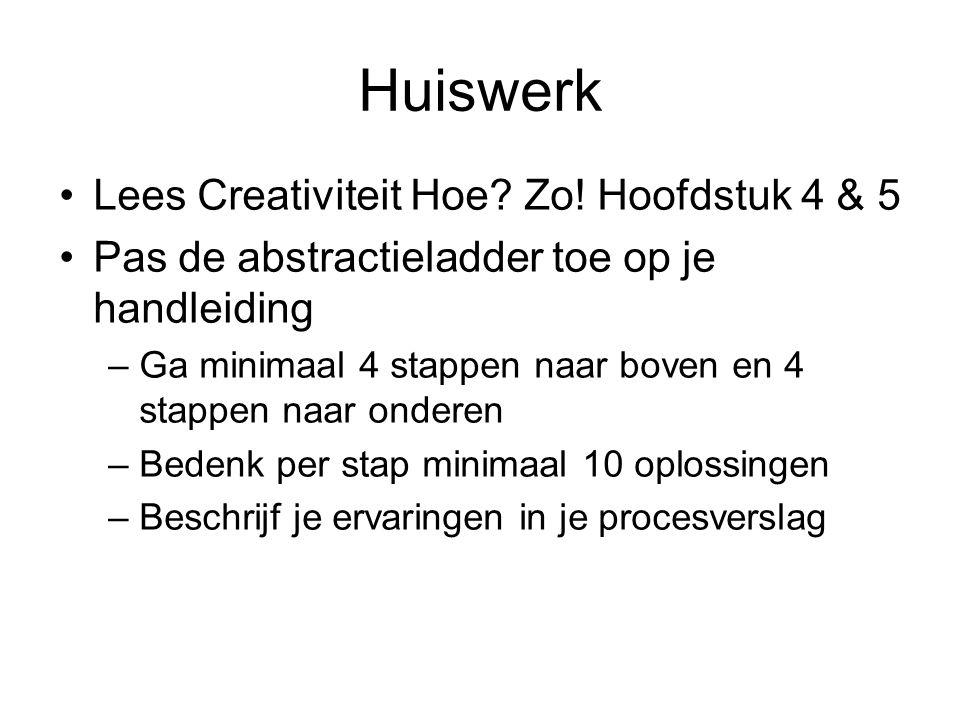 Huiswerk Lees Creativiteit Hoe Zo! Hoofdstuk 4 & 5