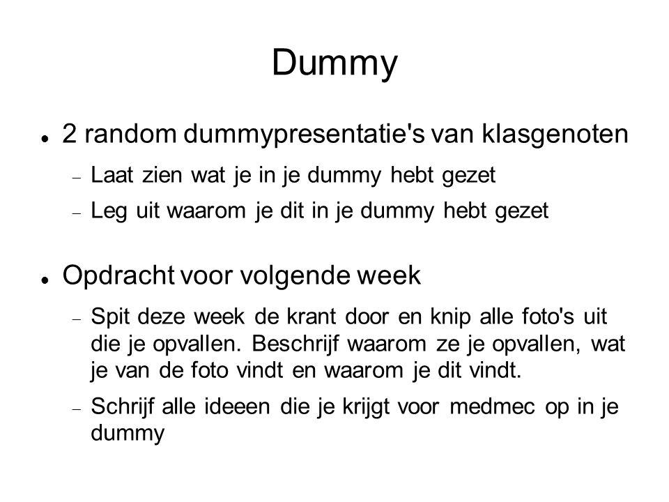 Dummy 2 random dummypresentatie s van klasgenoten