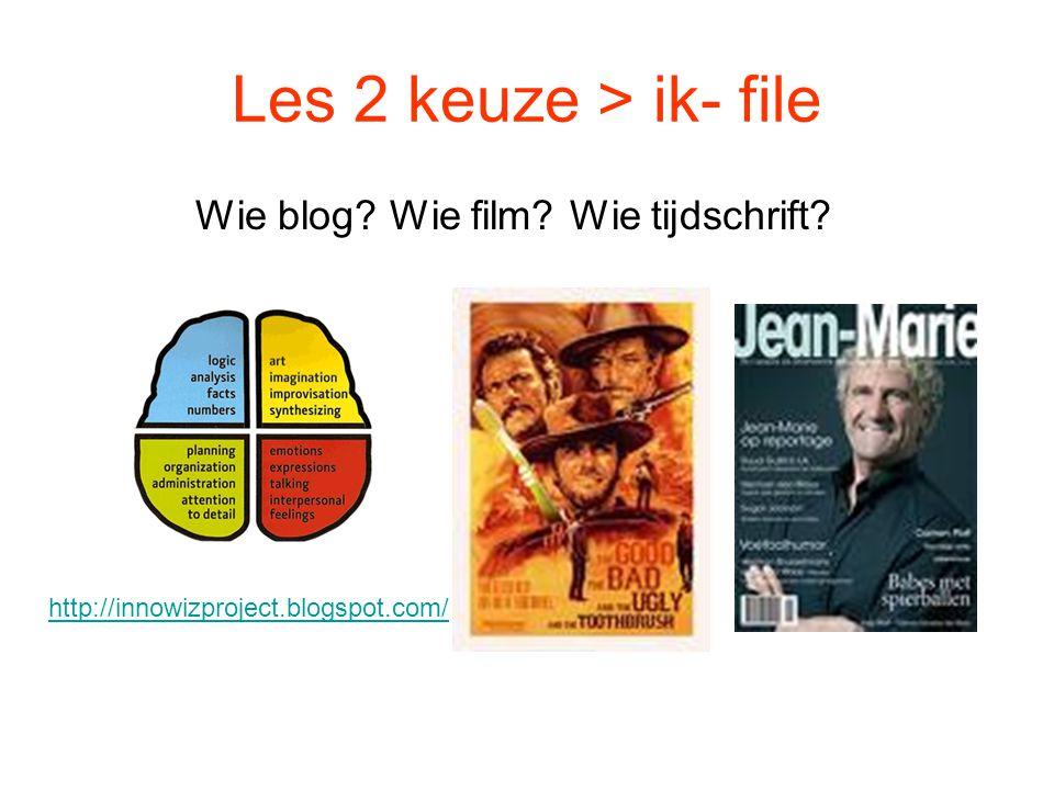 Wie blog Wie film Wie tijdschrift