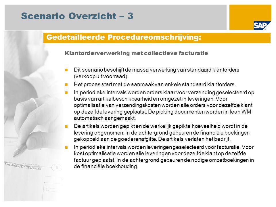 Scenario Overzicht – 3 Gedetailleerde Procedureomschrijving: