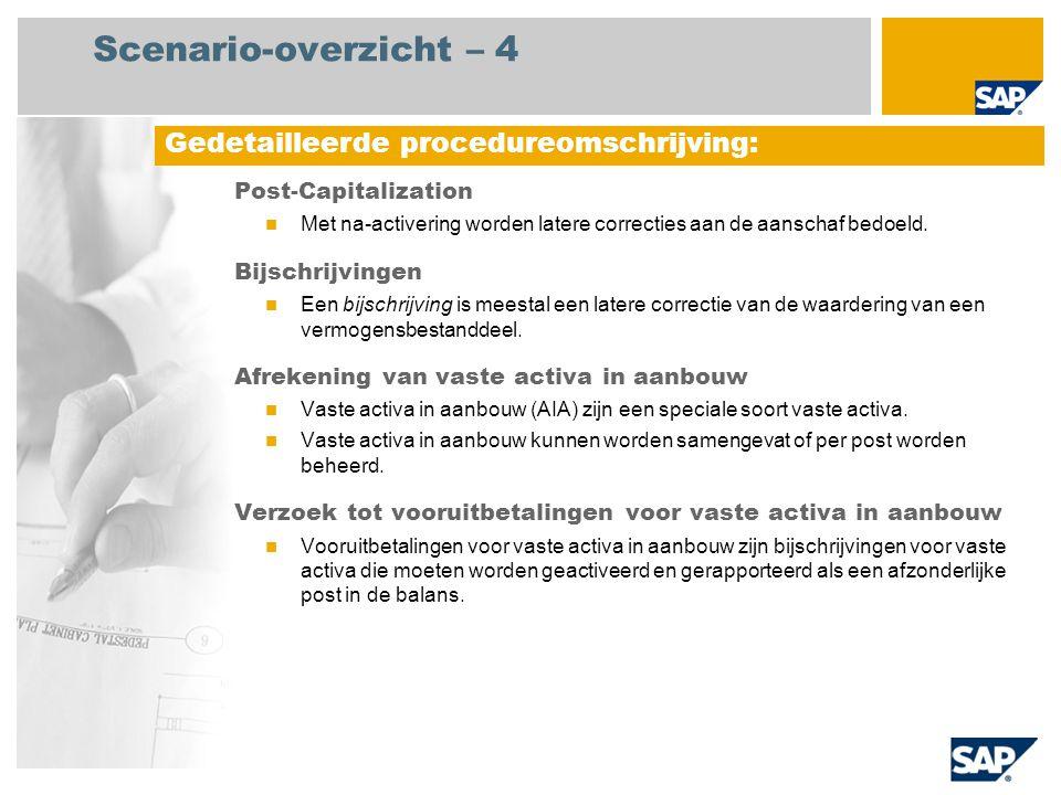 Scenario-overzicht – 4 Gedetailleerde procedureomschrijving: