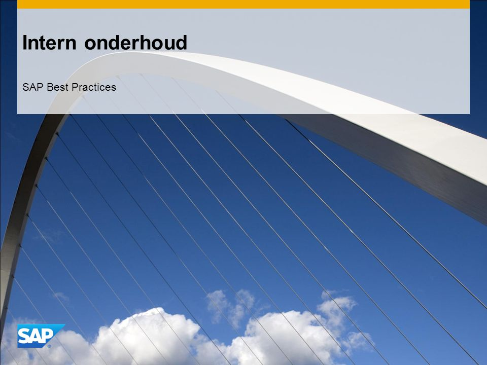Intern onderhoud SAP Best Practices