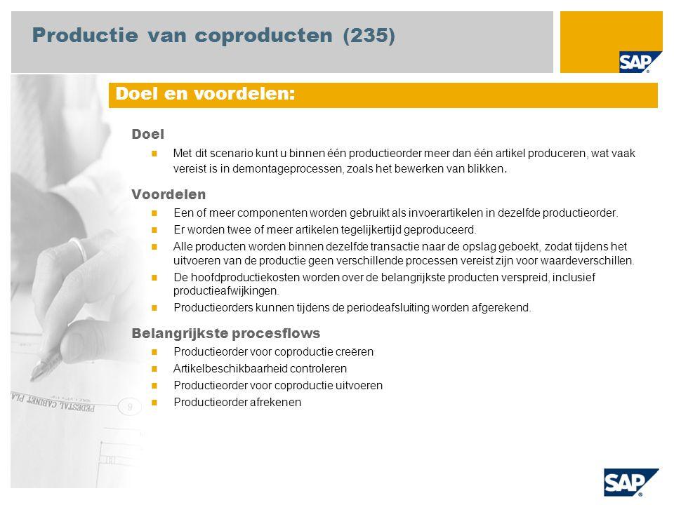 Productie van coproducten (235)