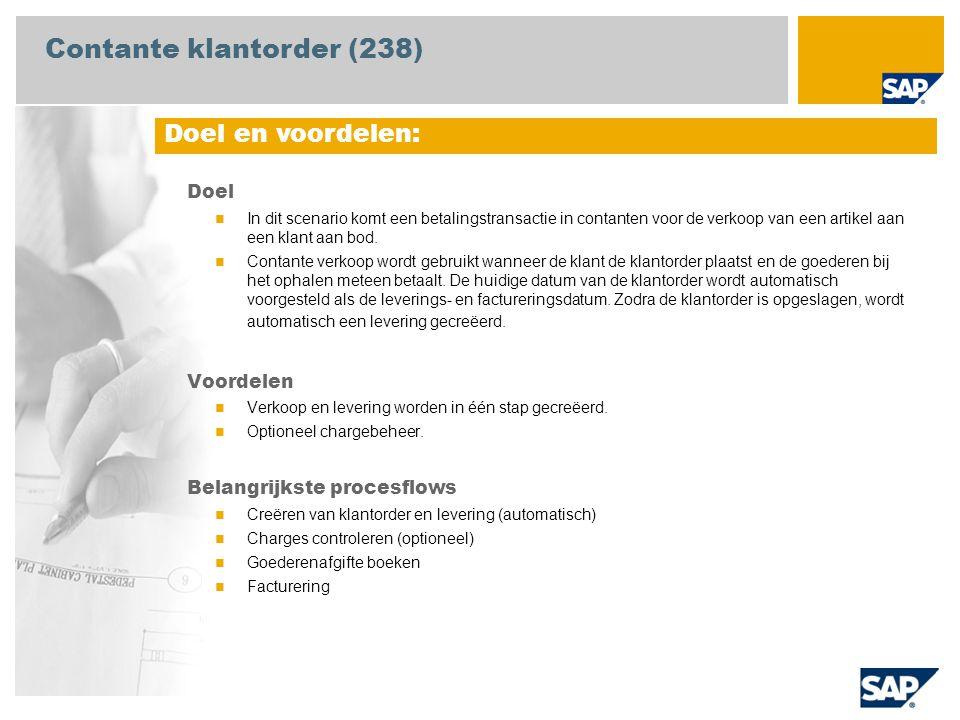 Contante klantorder (238)