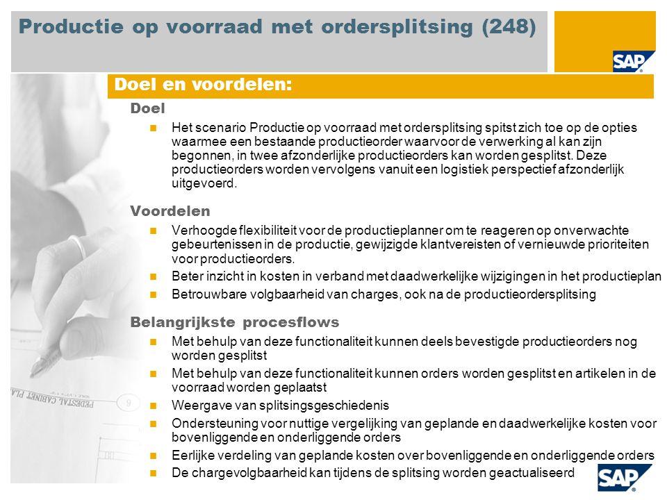Productie op voorraad met ordersplitsing (248)