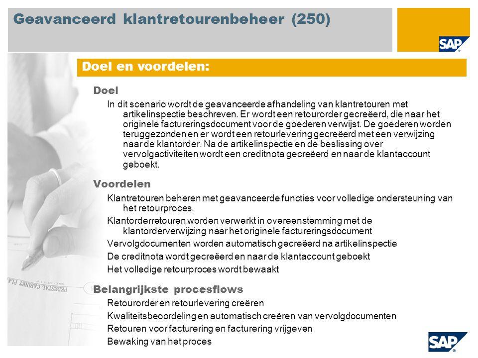 Geavanceerd klantretourenbeheer (250)