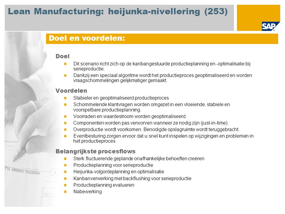 Lean Manufacturing: heijunka-nivellering (253)