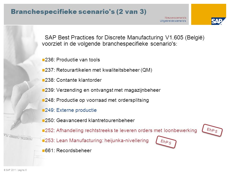 Branchespecifieke scenario s (2 van 3)