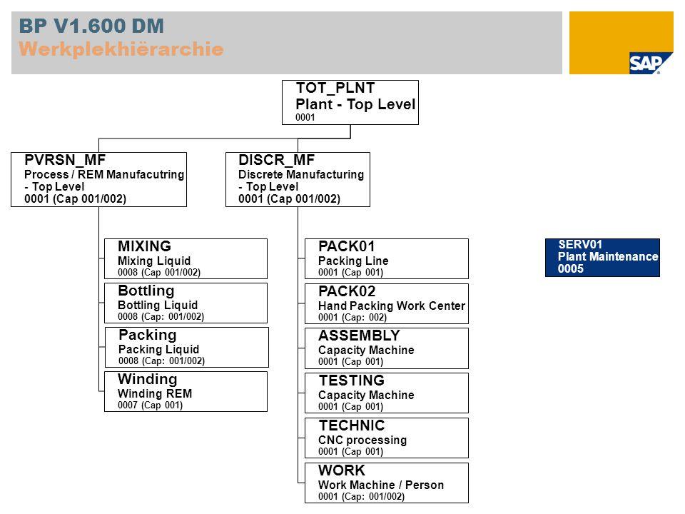 BP V1.600 DM Werkplekhiërarchie