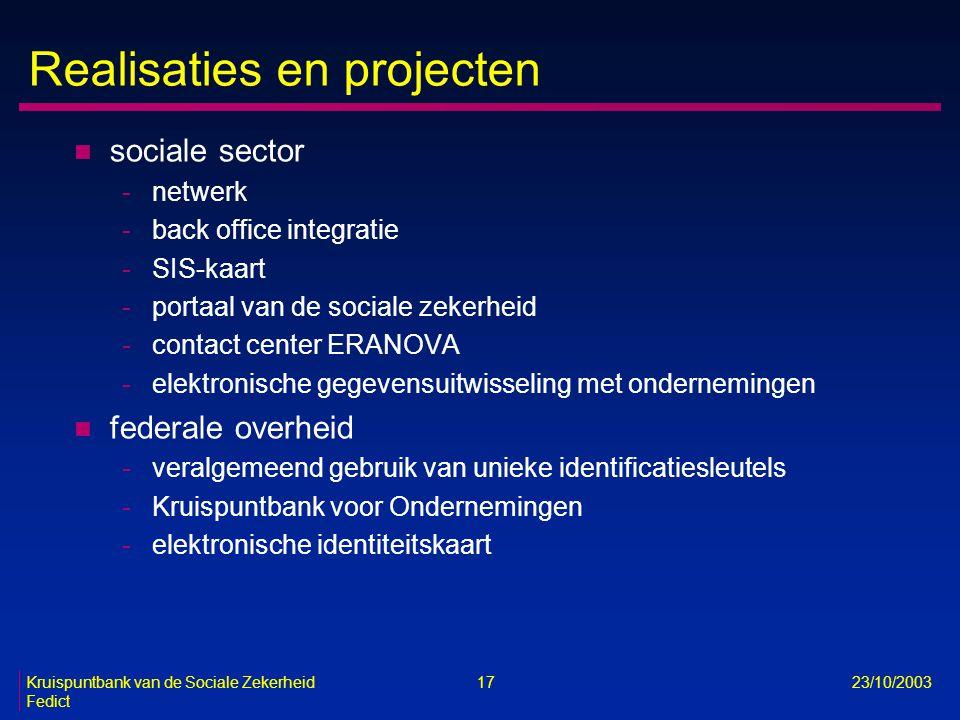 Realisaties en projecten