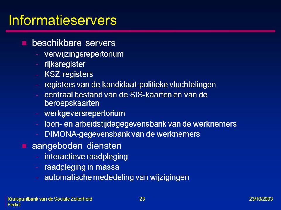 Informatieservers beschikbare servers aangeboden diensten