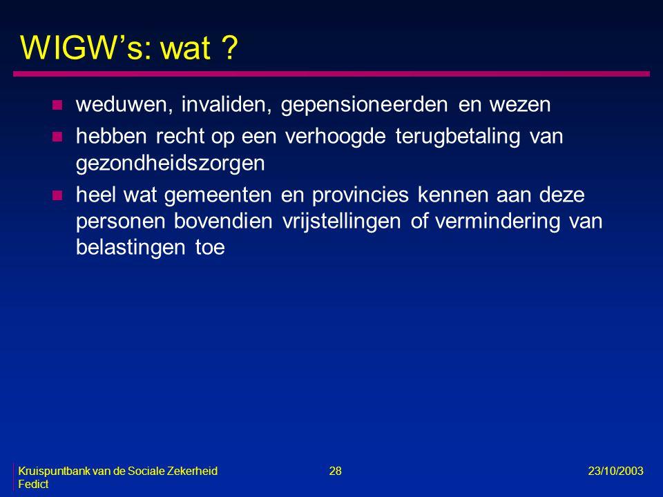 WIGW's: wat weduwen, invaliden, gepensioneerden en wezen