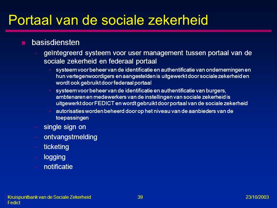 Portaal van de sociale zekerheid